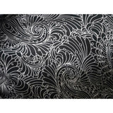 black/white paisley printed jersey - sold by 1/2mtr