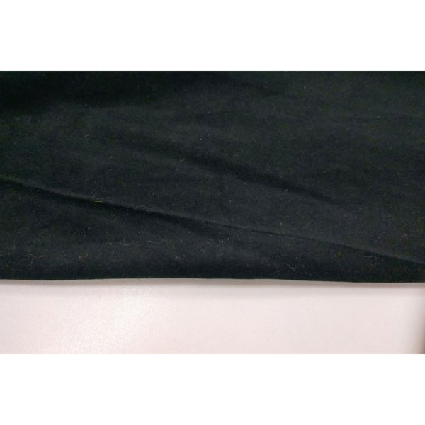 cotton velvet - black - sold by 1/2mtr