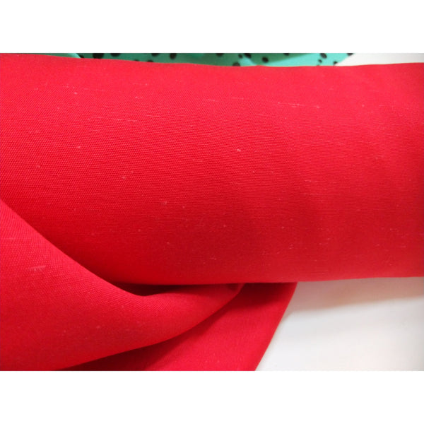 italian woven rayon/silk fabric - red