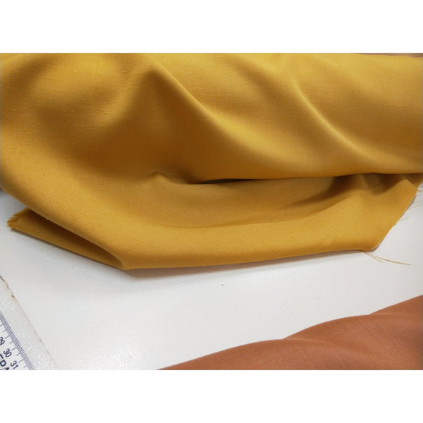 Angelo Vasino - silk/rayon wove fabric - ochre - sold in 1/2mtr