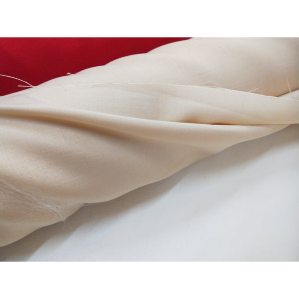 italian woven silk/rayon fabric - cream