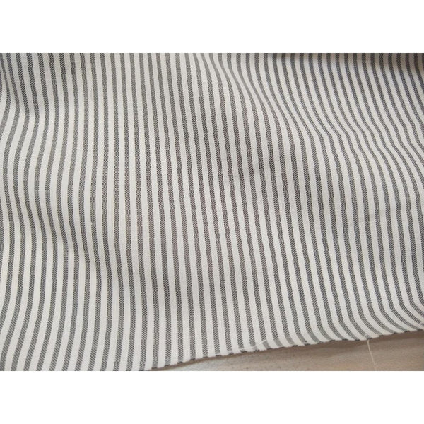 striped wove cotton/poly fabric