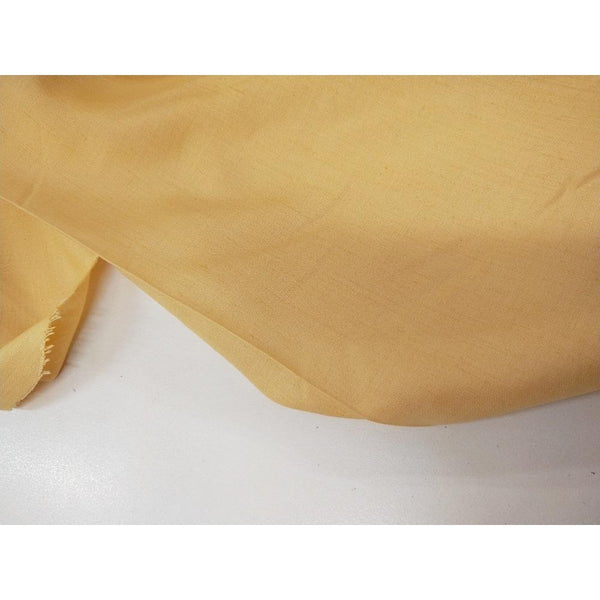 Angelo Vasino - woven rayon/silk fabric - buttercup