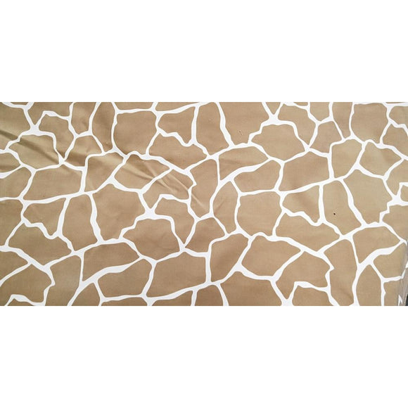 giraffe inspired printed stretch corduroy- sold by 1/2mtr