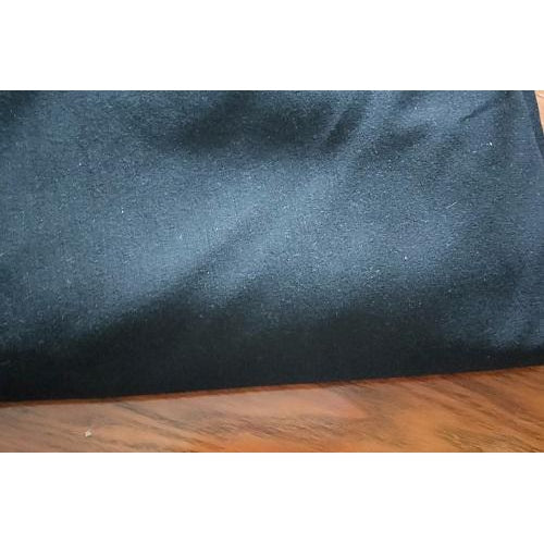 Ponte  knit fabric - black - sold by 1/2mtr