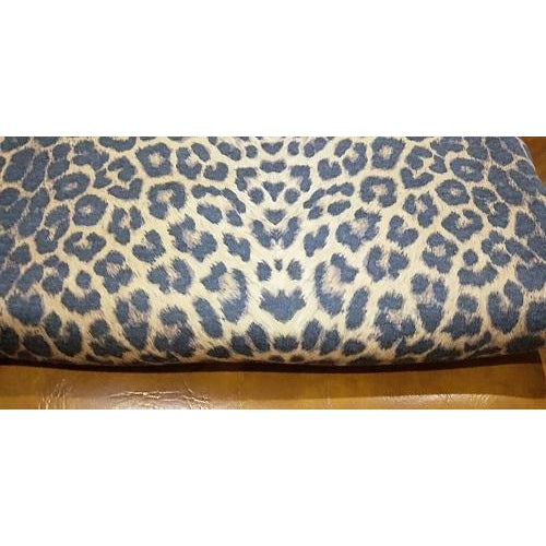 leopard printed fleece - sold by the piece 0.80cm