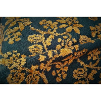 Floral design Acrylic/blend knit - chocolate/orange sold by 1/2mtr