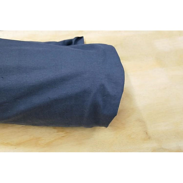 cotton/lycra - denim blue - sold by 1/2mtr