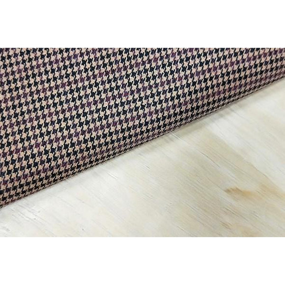 houndstooth stretch suiting - sold in 1/2mtr