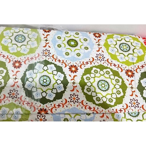 circle design cotton/linen fabric - sold by 1/2mtr