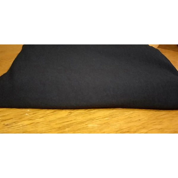 cotton/lycra - black - sold by 1/2mtr