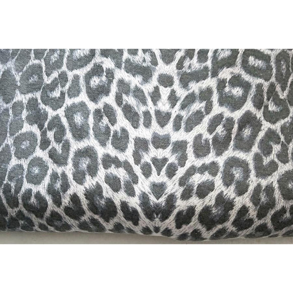 leopard printed fleece - sold by the piece 1.50mts