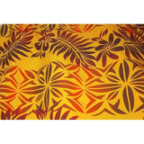 polynesian printed woven fabric - sold by 1/2mtr