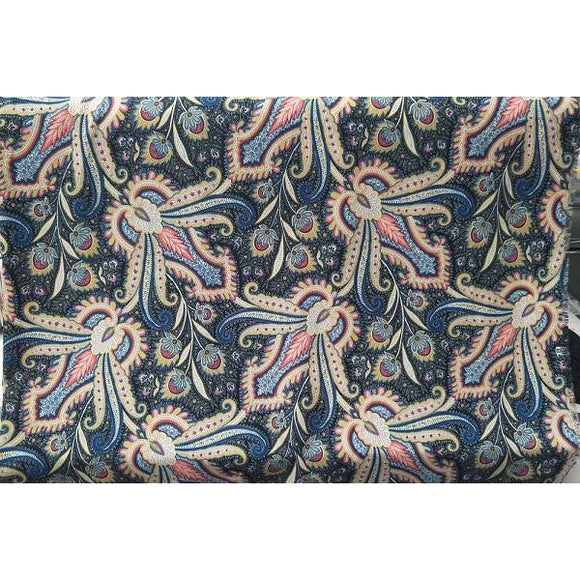 Paisley printed woven fabric - sold by 1/2mtr