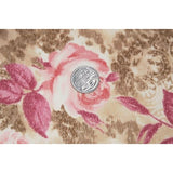 Rose printed stretch mesh  - sold by 1/2mtr