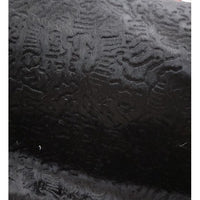 abstract embossed design faux fur