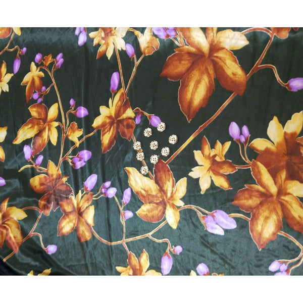 floral printed satin jersey