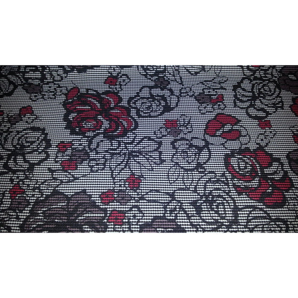 houndstooth/floral printed ponte - 2 shades