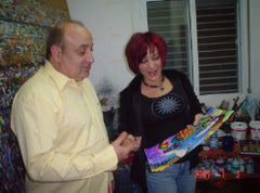 Patricia Govezensky with her exclusive publisher Yosi Gol