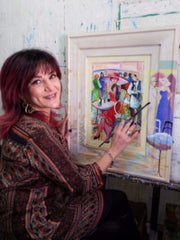 Patricia Govezensky in her studio