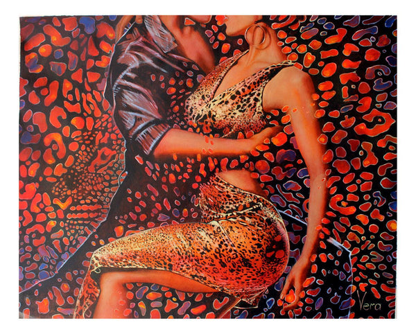 "Vera V. Goncharenko- Original Oil on Canvas ""Wild Tango"""