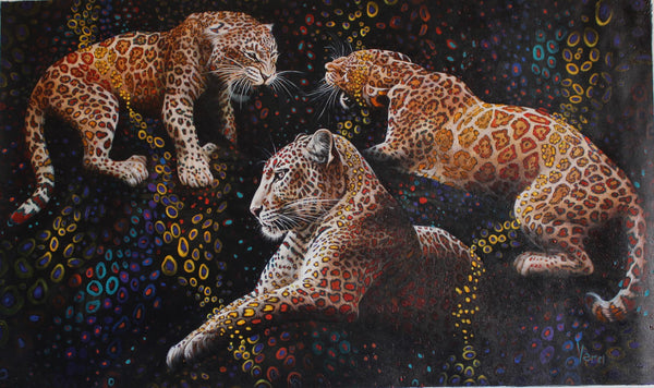 "Vera V. Goncharenko- Original Oil on Canvas ""Ready to Hunt"""