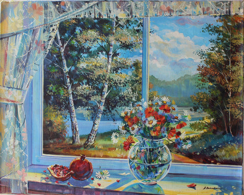 "Alexander Borewko- Original Oil on Canvas ""Sunny Day"""