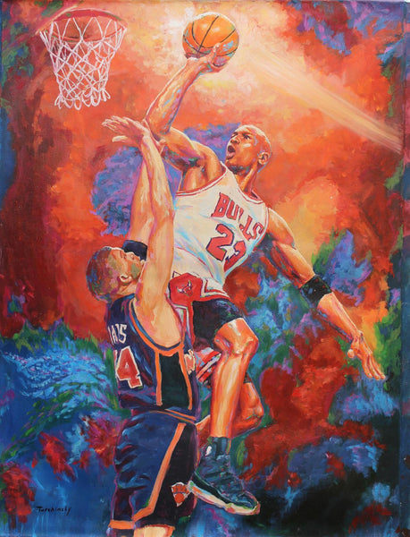 "Dimitry Turchinsky- Original Oil on Canvas ""Unstoppable"""