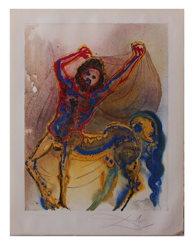 "Salvador Dali- Original Lithograph ""The Centaur of Crete"""