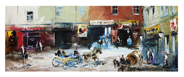 "Shalva Phachoshvili- Original Oil on Canvas ""Old Street"""