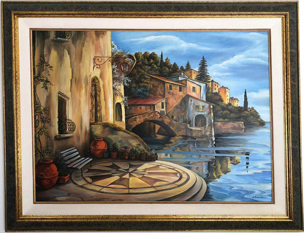 "Alexander Borewko- Original Oil on Canvas ""By The Ocean"""