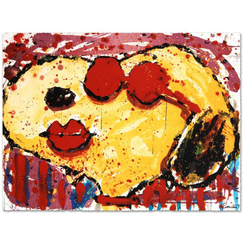 "Tom Everhart- Hand Pulled Original Lithograph ""Very Cool Dog Lips in Brentwood"""