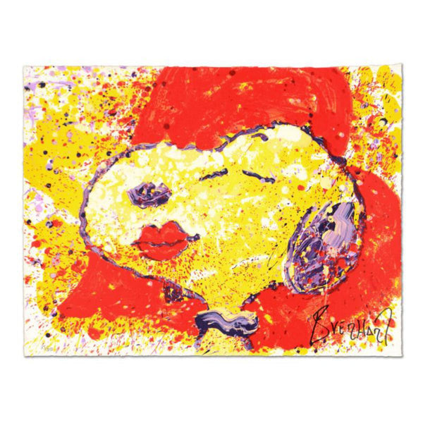 "Tom Everhart- Hand Pulled Original Lithograph ""A Kiss is Just a Kiss"""