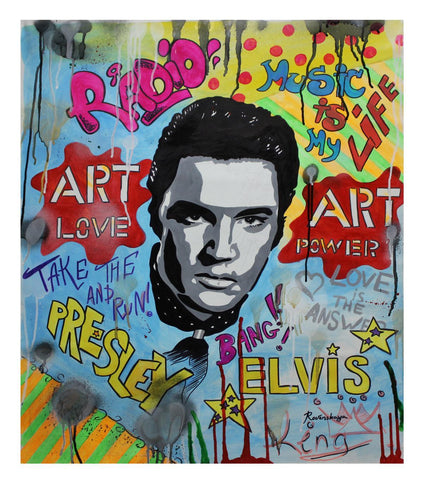 "Nastya Rovenskaya- Original Oil on Canvas ""Time For Elvis """
