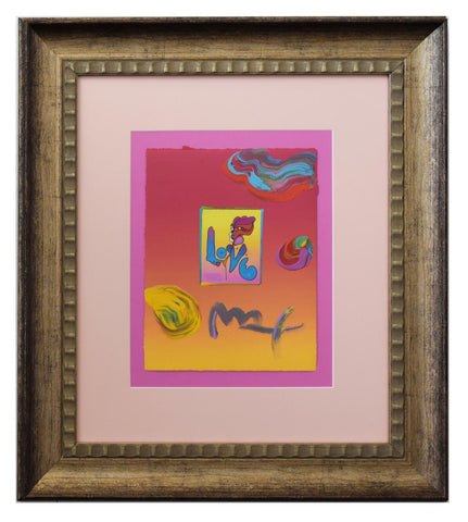 "Peter Max- Original Mixed Media ""Love"""