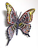 "Patricia Govezensky- Original Painting on Cutout Steel ""Butterfly CLXII"""