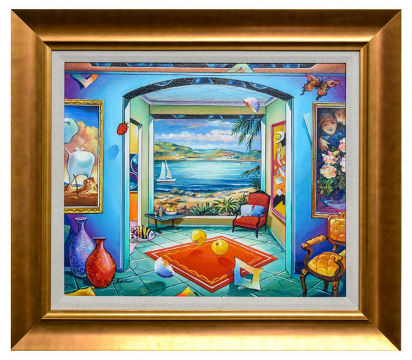 "Alexander Astahov- Original Oil on Canvas ""By The Ocean"""