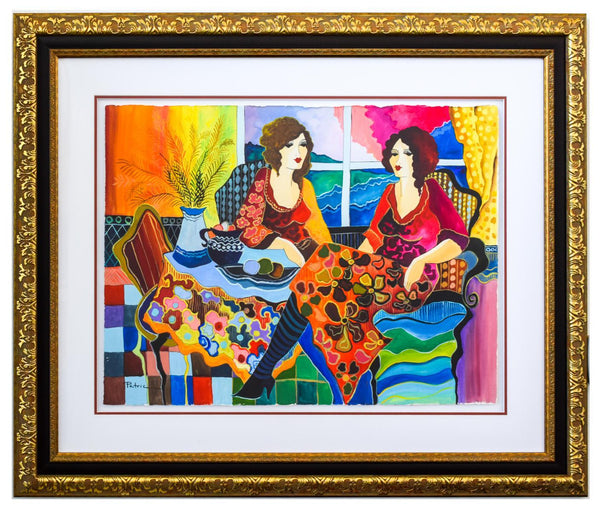 "Patricia Govezensky- Original Watercolor ""Mona and I"""