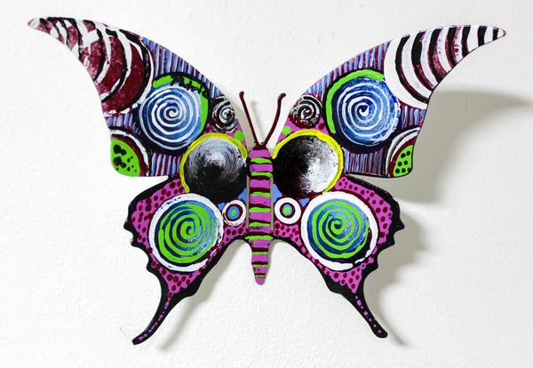 "Patricia Govezensky- Original Painting on Cutout Steel ""Butterfly CXC"""