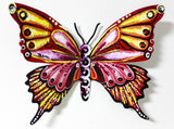 "Patricia Govezensky- Original Painting on Cutout Steel ""Butterfly CXCVIII"""