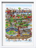 "Charles Fazzino- 3D Construction Silkscreen Serigraph ""Take The B-Train to Brooklyn"""