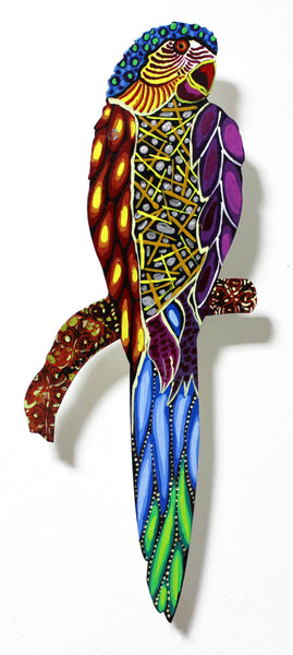 "Patricia Govezensky- Original Painting on Laser Cut Steel ""Moment of Peace VII"""