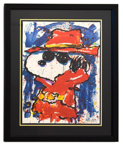 "Tom Everhart- Hand Pulled Original Lithograph ""Undercover In Hollywood"""
