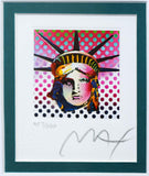 "Peter Max- Original Lithograph ""Liberty Head II (Mini)"""