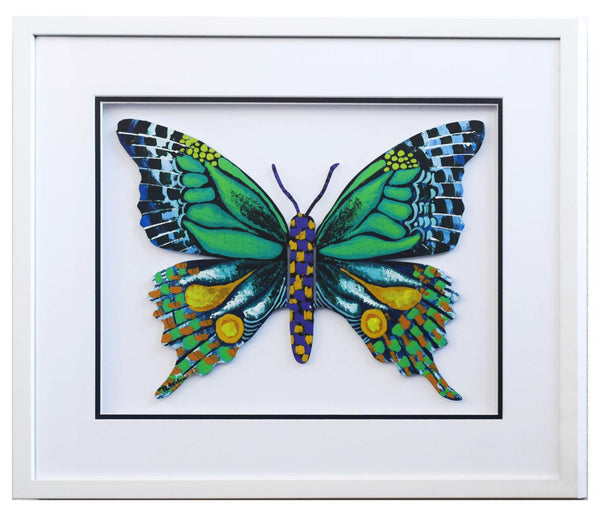 "Patricia Govezensky- Original Painting on Laser Cut Steel ""Butterfly CCXXI"""