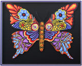 "Patricia Govezensky- Original Painting on Laser Cut Steel ""Butterfly CCXXIII"""