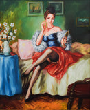 "Taras Sidan- Original Giclee on Canvas ""Before The Date"""