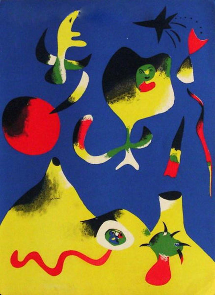 "Joan Miro- Lithograph ""L'air"""