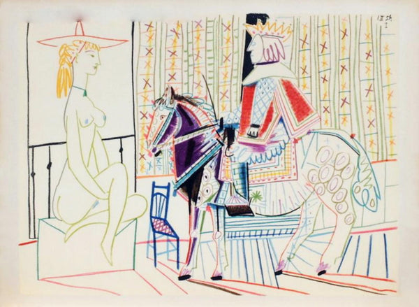 "Pablo Picasso- Lithograph ""Comedie Humaine : 01.2.54. I"""