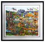 "Charles Fazzino- 3D Construction Silkscreen Serigraph ""O BEAUTIFUL FOR SPACIOUS SKIES…AMERICA…AMERICA"""